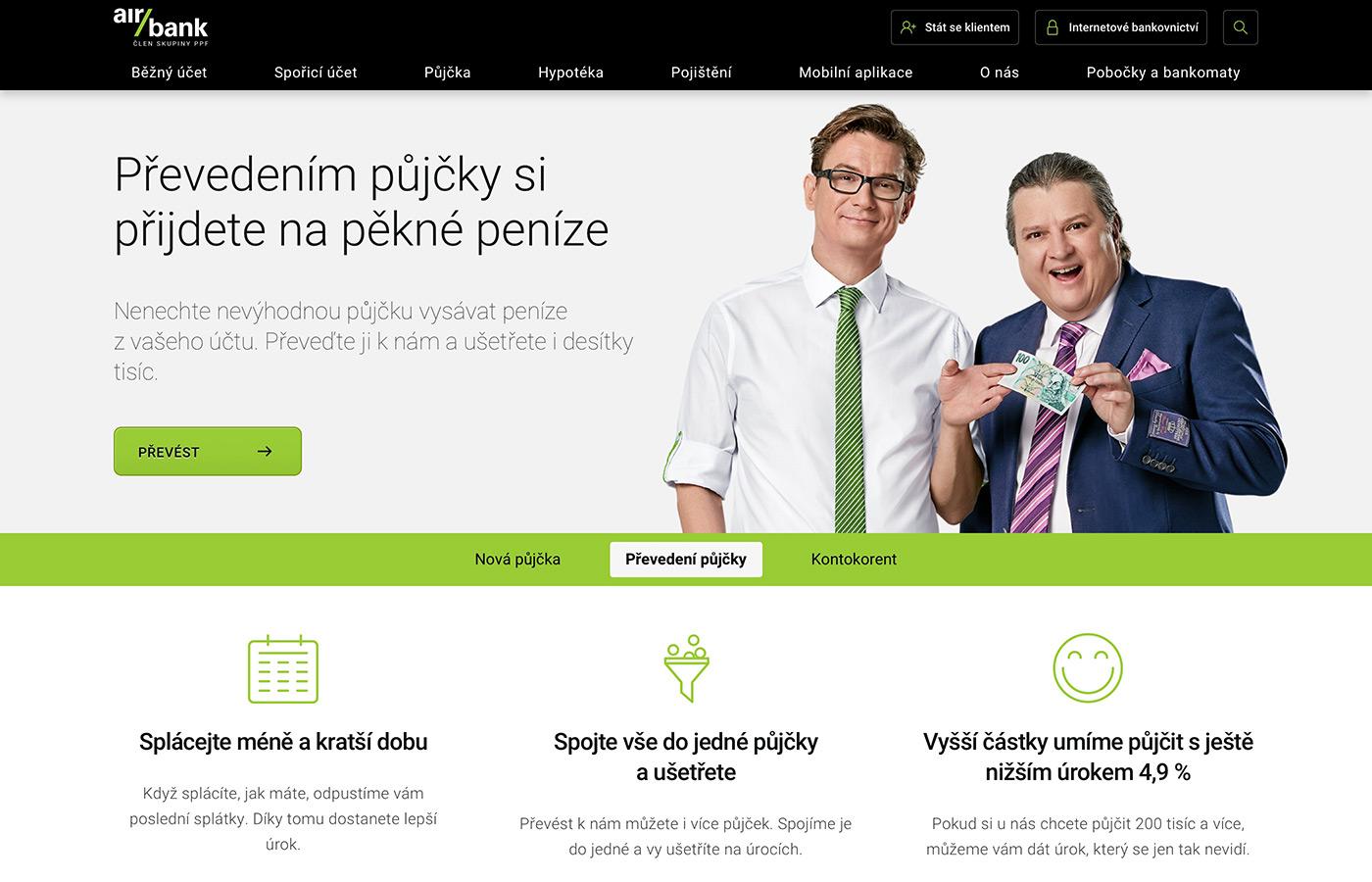 Webové stránky https://www.airbank.cz/produkty/prevedeni-pujcky/