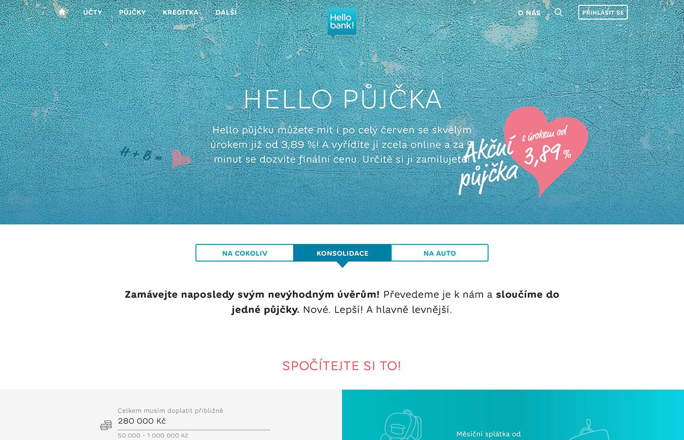 Webové stránky https://www.hellobank.cz/pujcky/konsolidace