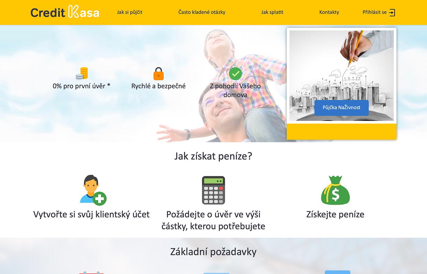 Webové stránky https://www.creditkasa.com