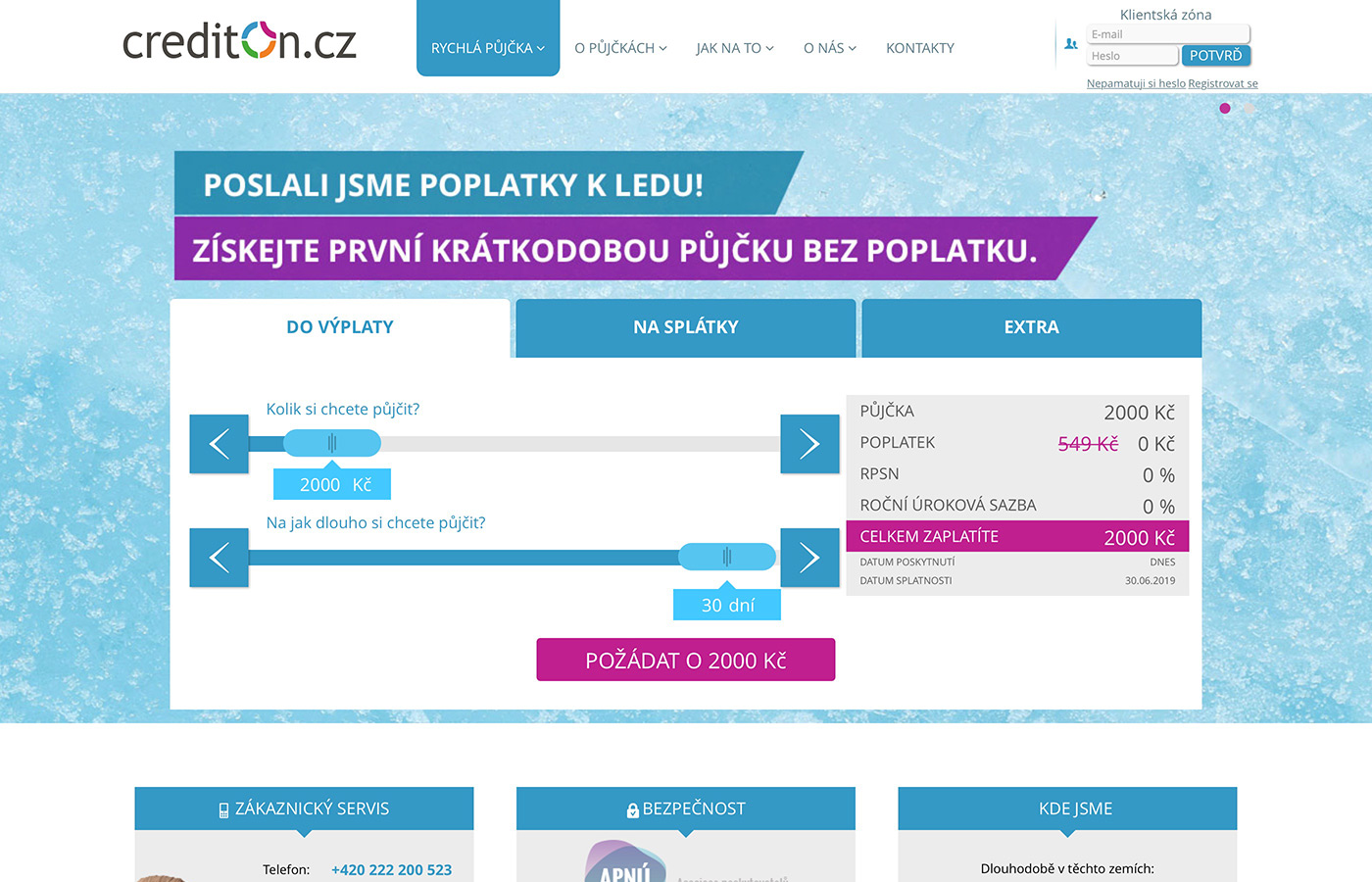 Webové stránky https://www.crediton.cz