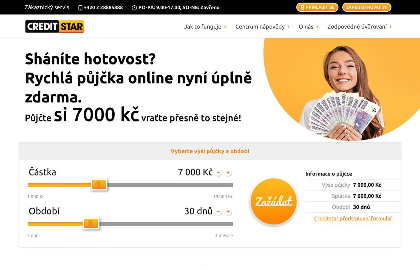 Webové stránky https://www.creditstar.cz