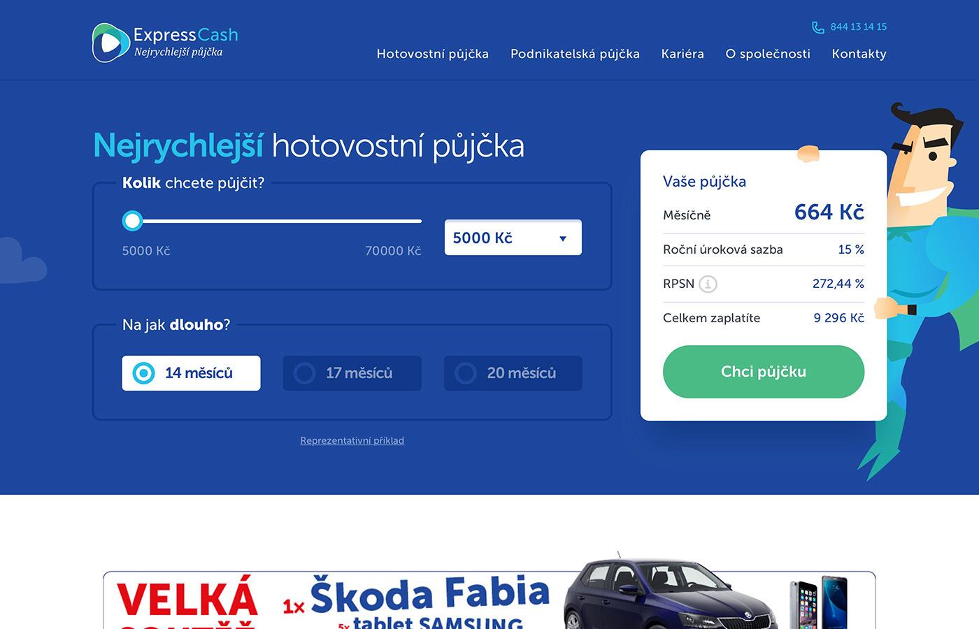 Webové stránky https://www.expresscash.cz