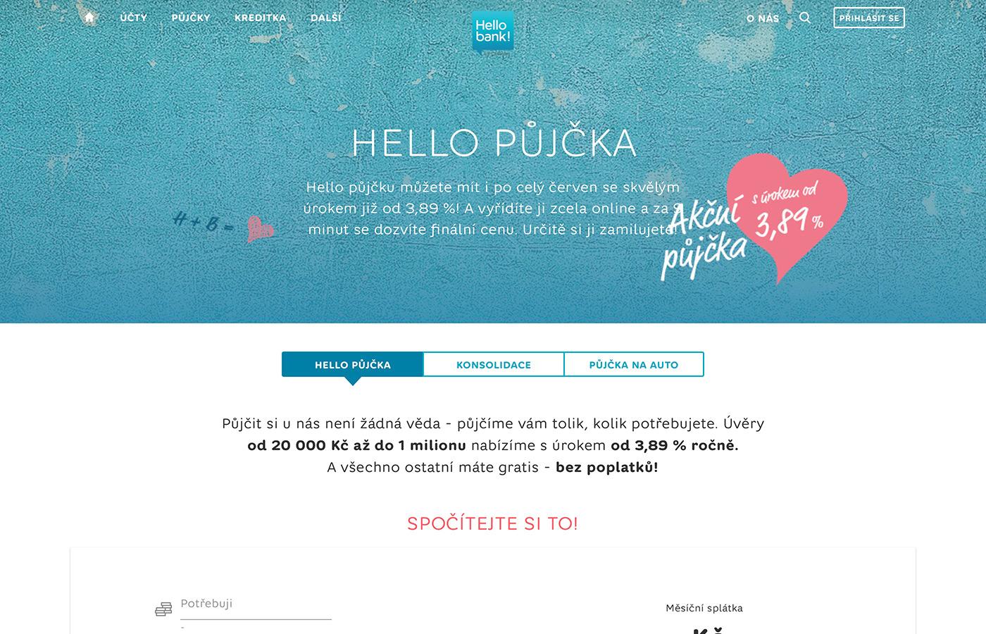 Webové stránky https://www.hellobank.cz/pujcky/na-cokoliv