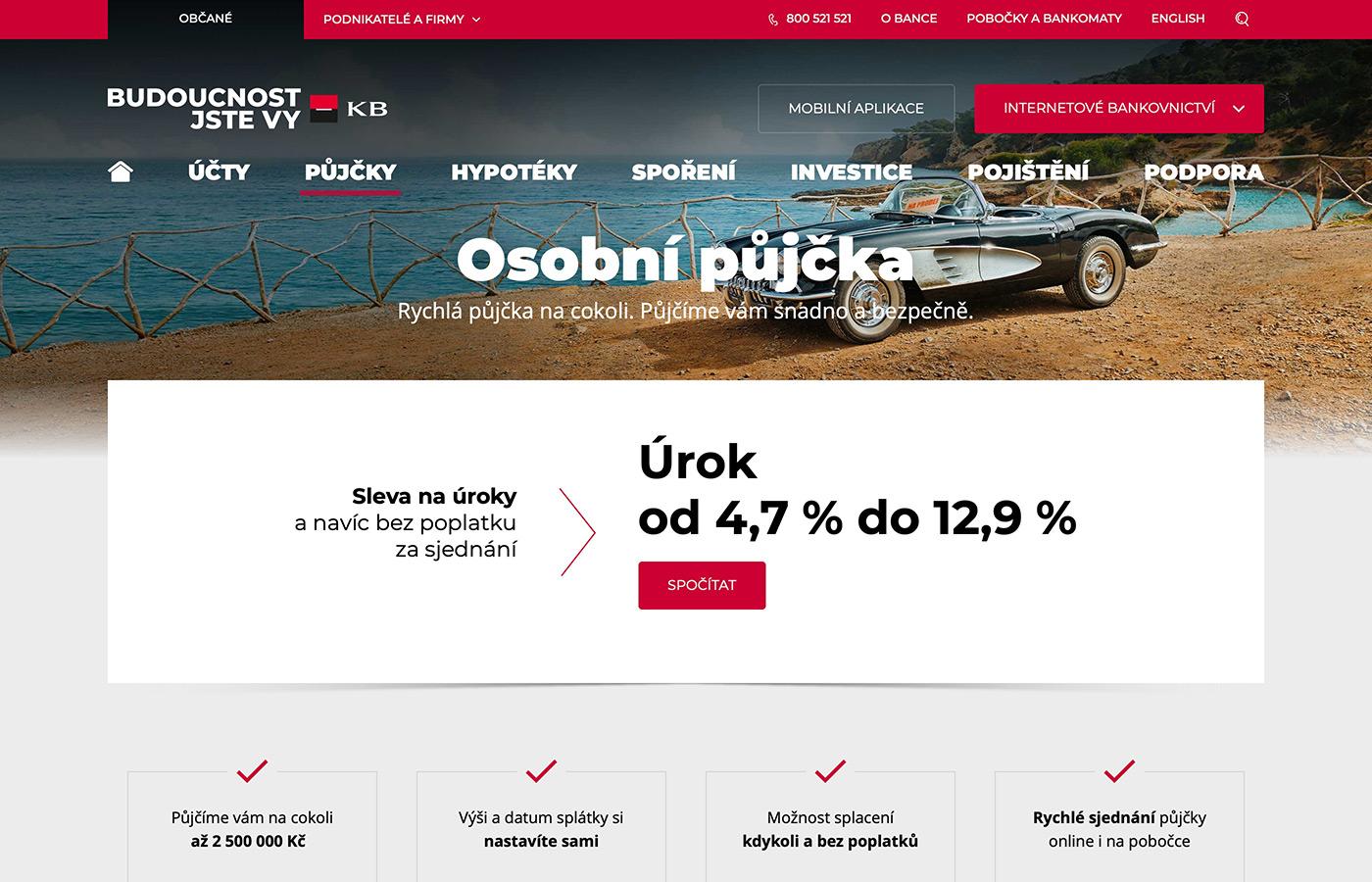 Webové stránky https://www.kb.cz/cs/obcane/pujcky/osobni-uver