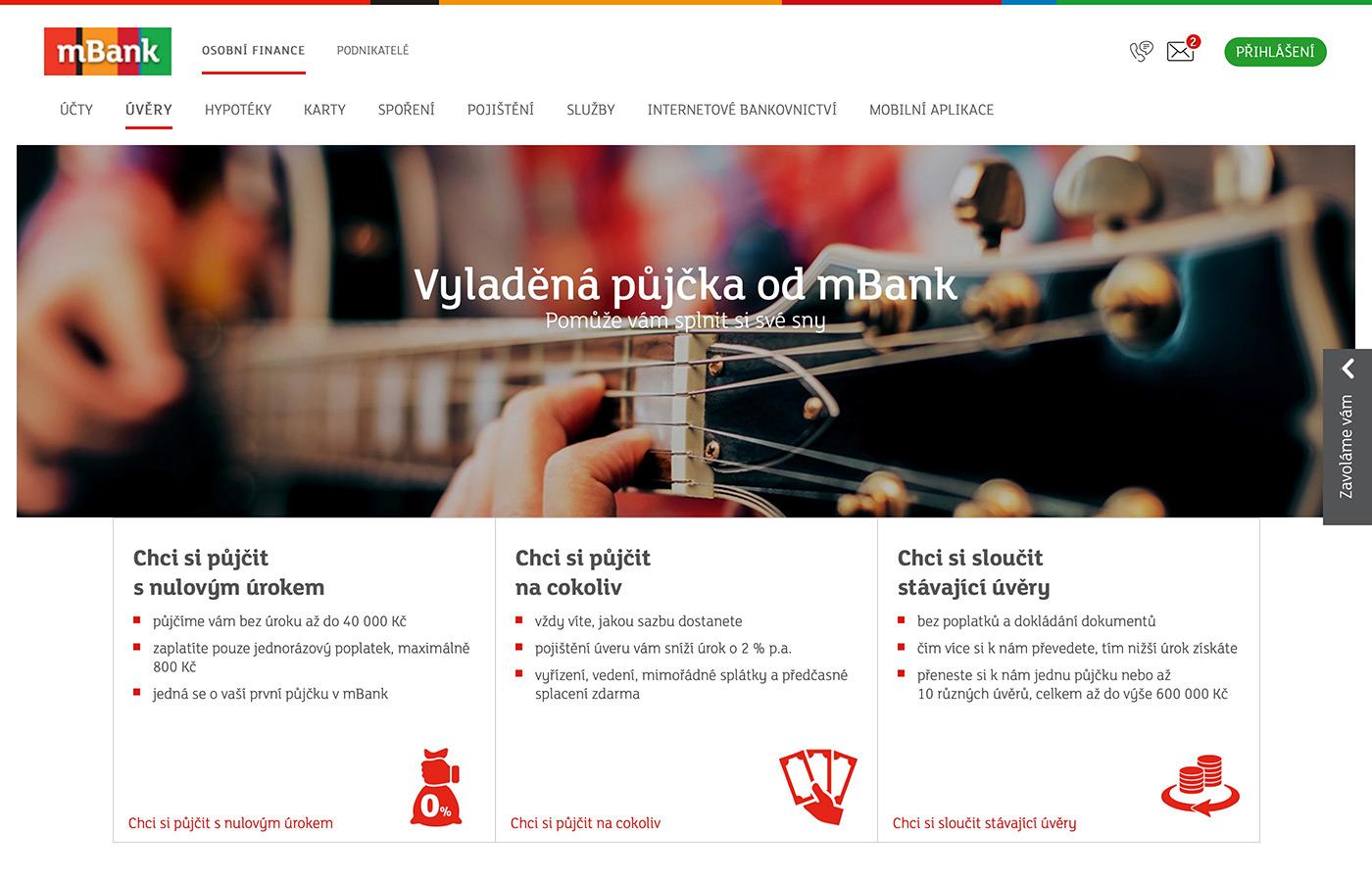 Webové stránky https://www.mbank.cz/osobni/uvery/mpujcka/