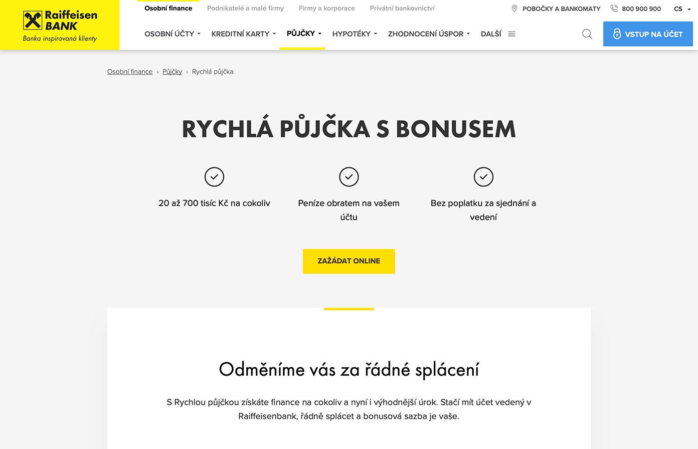 Webové stránky https://www.rb.cz/osobni/pujcky/rychla-pujcka