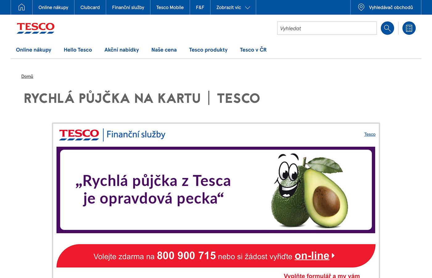 Webové stránky https://www.tescouver.cz
