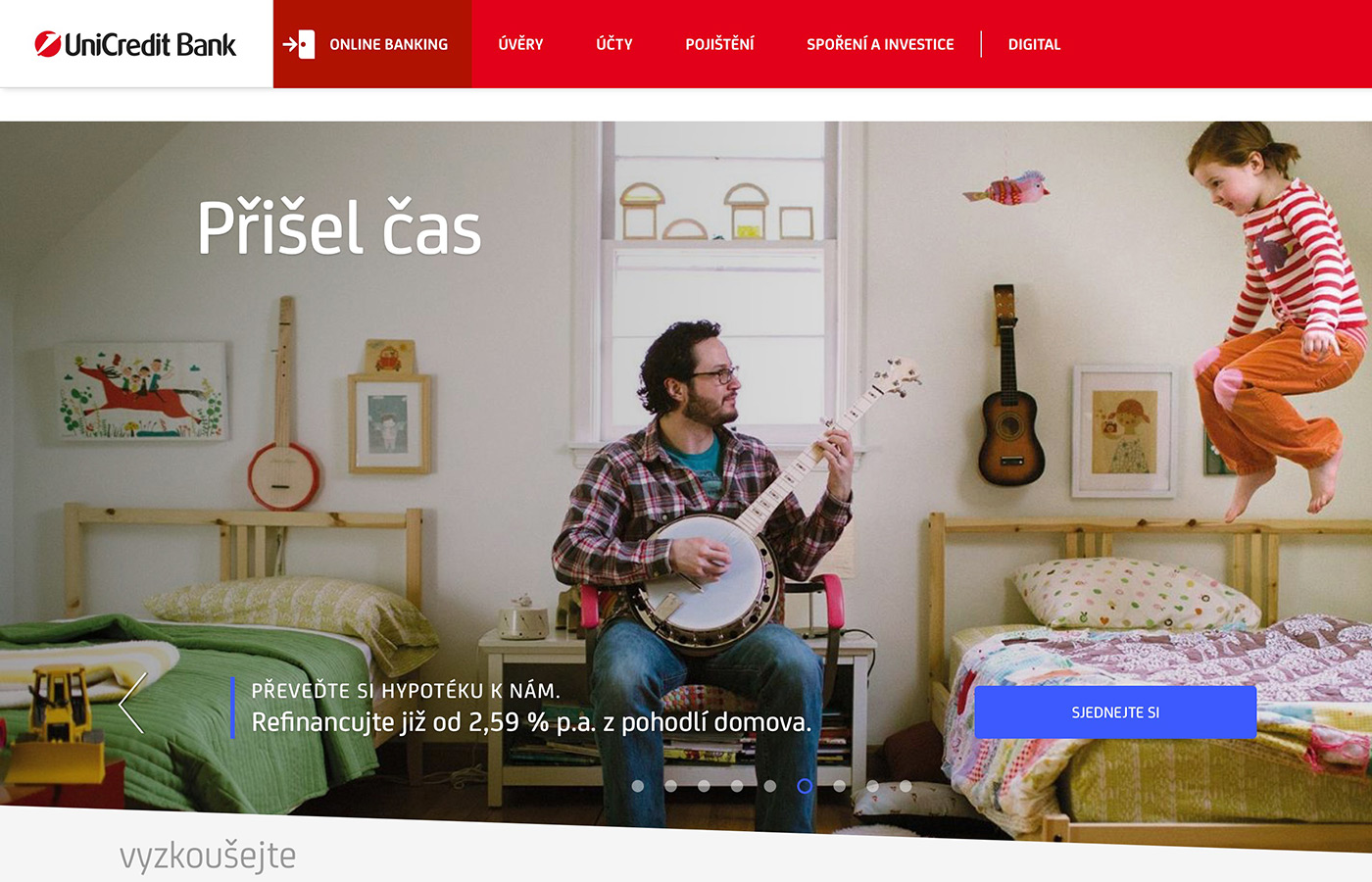 Webové stránky https://www.unicreditbank.cz/cs/obcane.html#Uvery