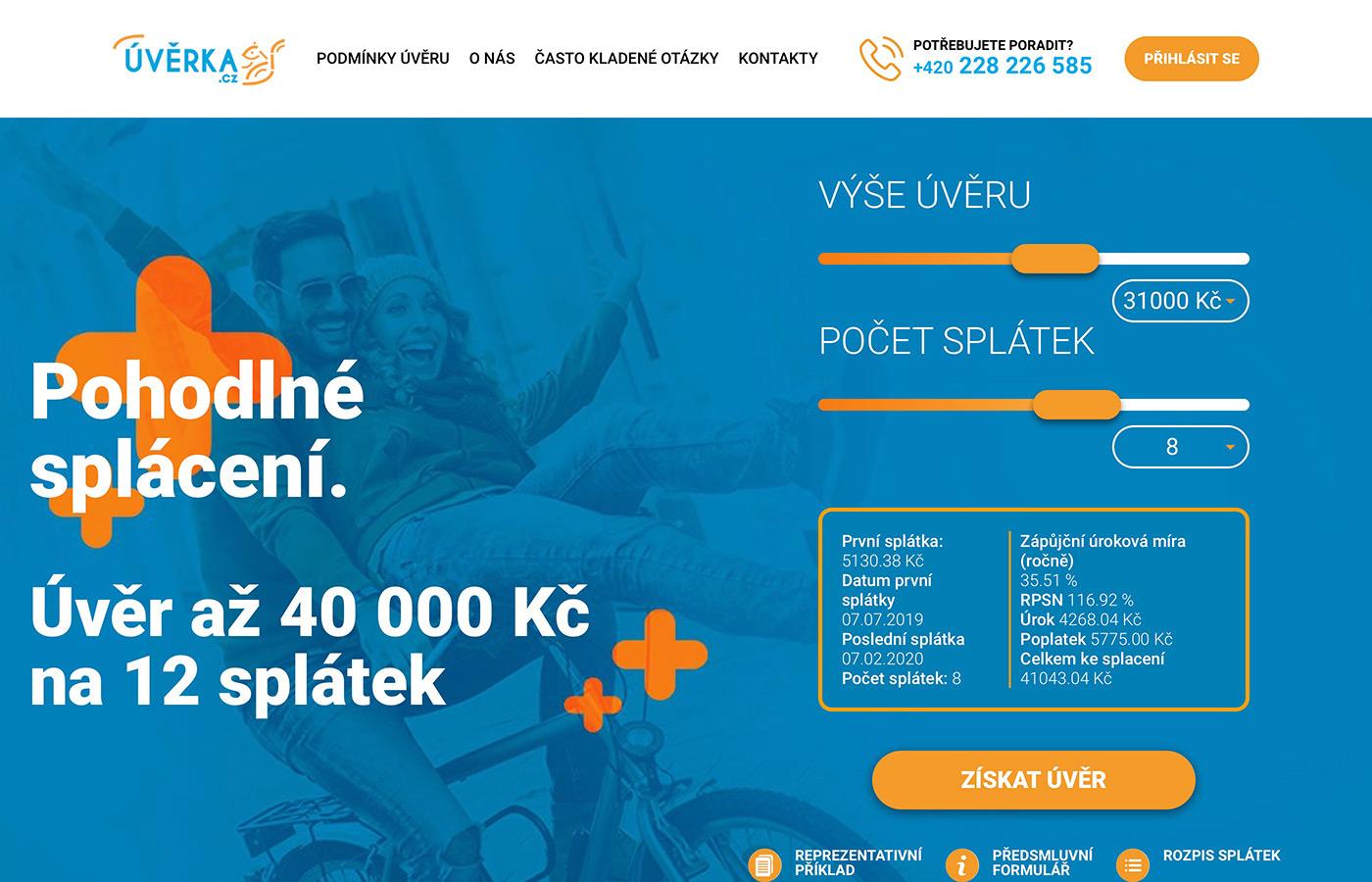 Webové stránky https://www.uverka.cz