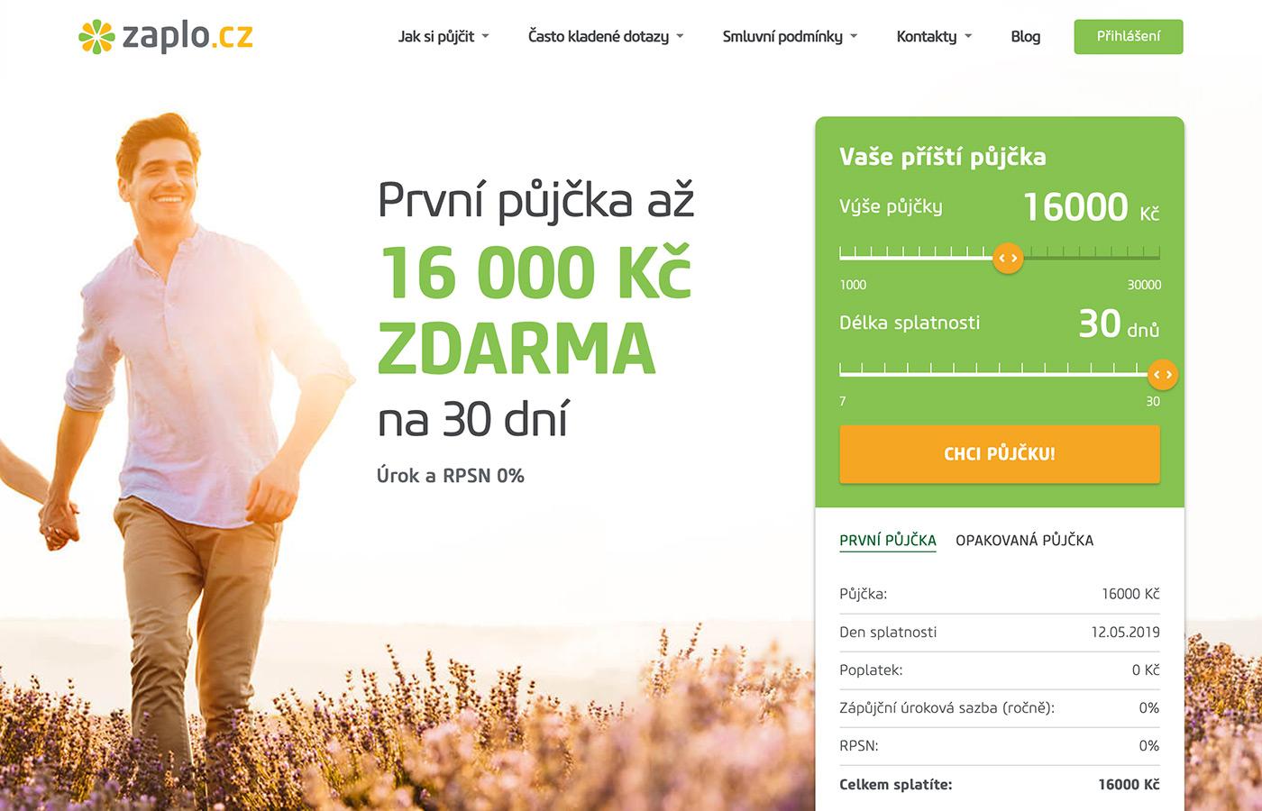 Webové stránky https://www.zaplo.cz